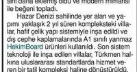 Yeni Çağrı Newspaper<br /> 01 September 2016