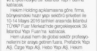 Tünaydın Newspaper<br /> 11 May 2016