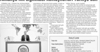 Tünaydın Newspaper<br /> 14 May 2016