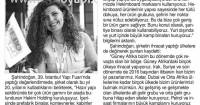 Yeni Çağrı Newspaper<br /> 16 May 2016