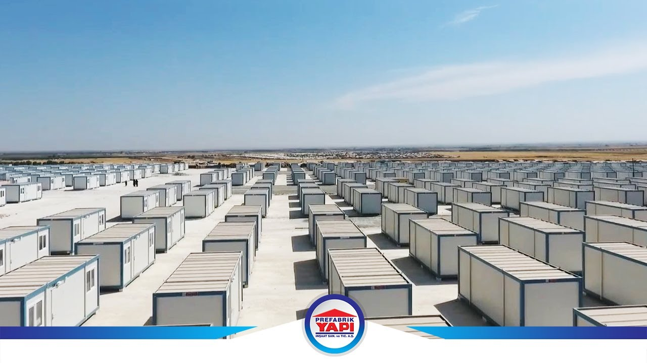 Container Camp for 10000 People in 2 Months